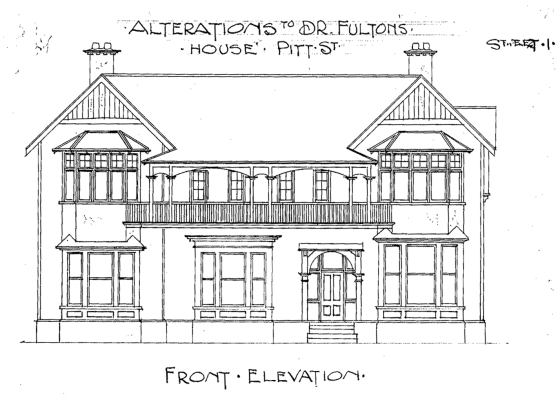 Fulton House alteration, Pitt Street, 1905