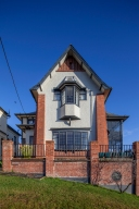 The magnificent east elevation of Ritchie house bears a resemblance to the Watson house of 1913.